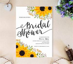 sunflower bridal shower invitations lemonwedding With wedding shower invitations with sunflowers