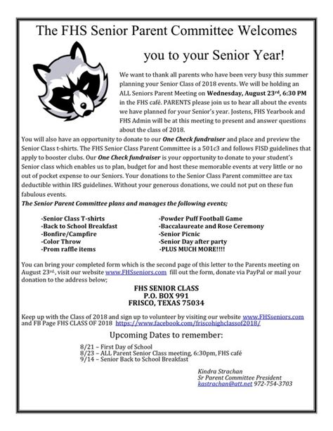 letter to high school senior inspirational welcome letter to parents cover letter 23211