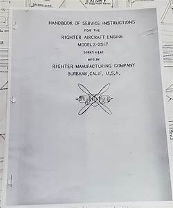 Handbook Of Service Instructions For The Righter Aircraft