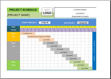 project management templates excel  task list