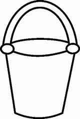 Bucket Coloring Drawing Draw Beach Pages Sand Shovel Easy Template Clipart Well Sketch Clip Place Sheet Button Paper Utilising Templates sketch template