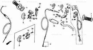 Honda Motorcycle 1987 Oem Parts Diagram For Handle Switch