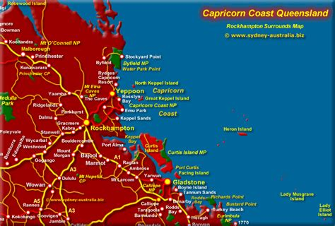 Why are the tropic of cancer and tropic of capricorn important? Capricorn Coast Map QLD