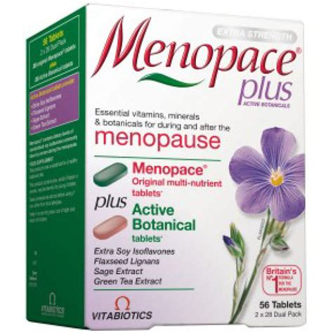 vitabiotics menopace active botanicals tablets