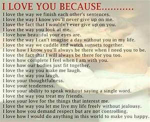 I Love You because Quotes - lovequotesmessages