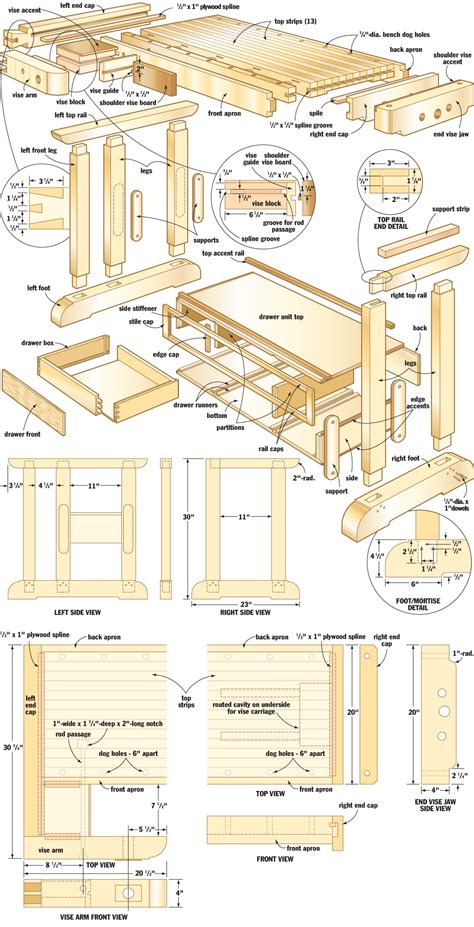 build kitchen island table craftsmans workbench woodworking plans woodshop plans
