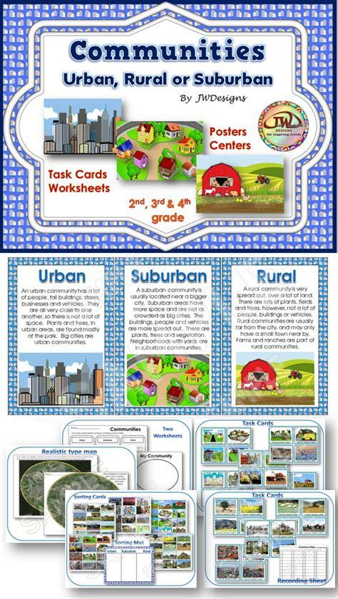 set  activities focuses  rural suburban