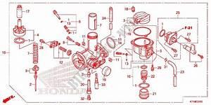 Carburetor  2  For Honda Wave 110 Alpha  Front Drum