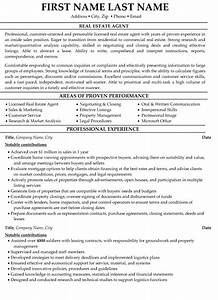 top real estate resume templates samples With resume template for real estate agents