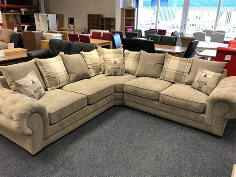 large corner settee venice large corner sofa grey fabric the clearance zone