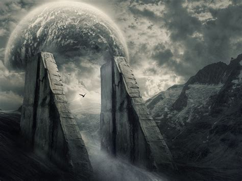 wallpapers fantasy wallpaper alien ruins