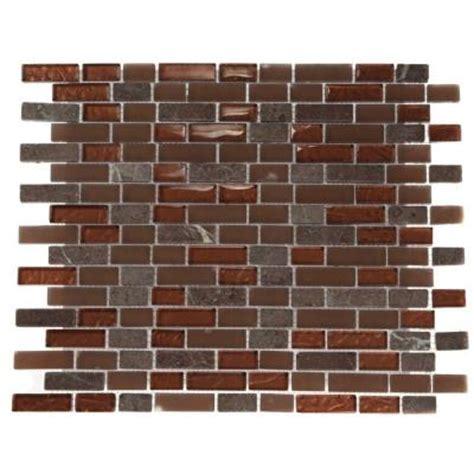 home depot brick tile splashback glass tile brick pattern 12 in x 12 in marble
