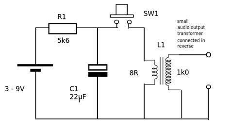 current electric chewing gum prank circuit diagram