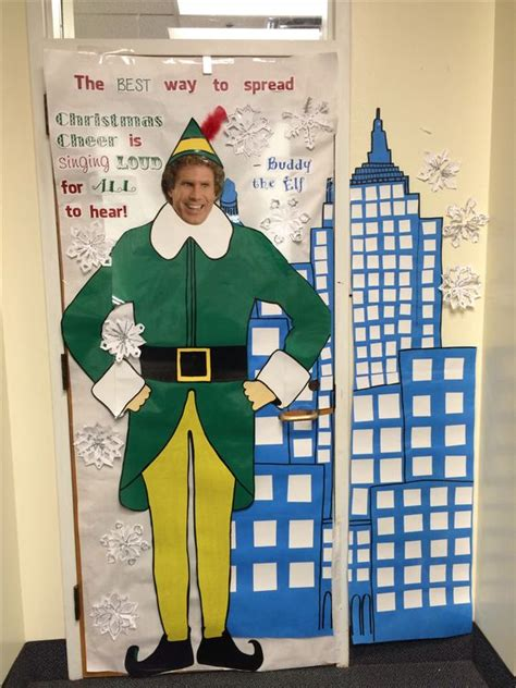 christmas classroom door decorations buddy the elf