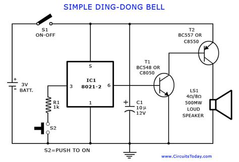 Tone Generator Ding Dong Bell Circuit Diagram World