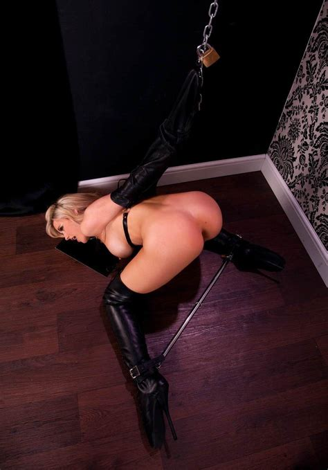 Locked In An Armbinder And Spreader Bar Porn Photo Eporner