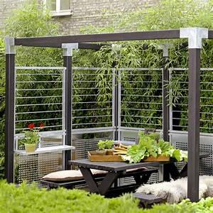 Stahlspalier In Zinkrahmen Sichtschutzelement Cubic