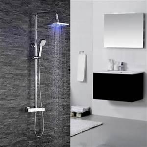 eclairage led douche italienne finest leroy merlin miroir With carrelage adhesif salle de bain avec reglette led etanche