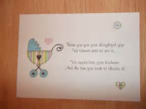 Baby Shower Thank You Card Poems
