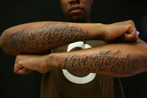 arm lettering fonts tattoo  omaha tattoo