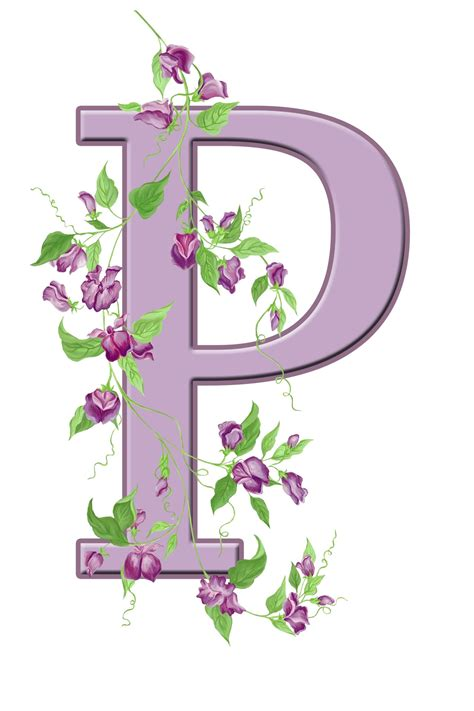 letter p floral initial  stock photo public domain pictures