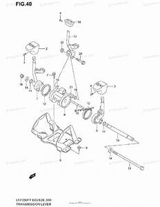 Suzuki Atv 2002 Oem Parts Diagram For Transmission Lever