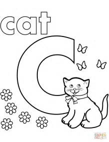 C Coloring Pages C Is For Cat Coloring Page Free Printable Coloring Pages