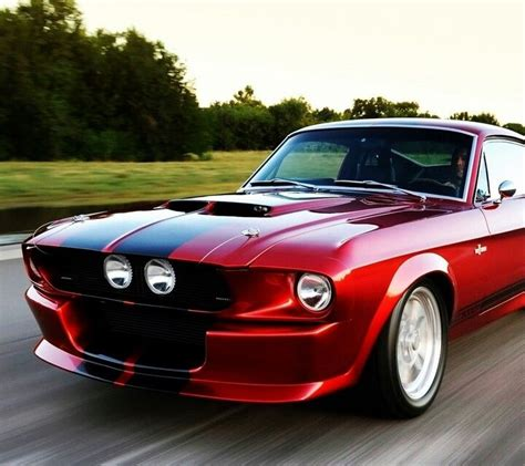 Blood Red Mustang