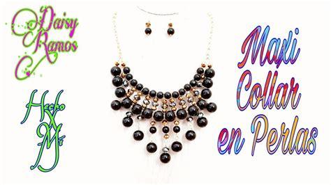 Maxi Collar Perlas negras Fácil de Hacer DIY YouTube