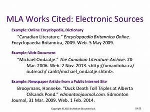 Works Cited Mla Format Web Sources