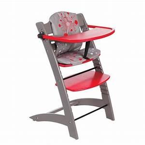 Chaise Haute Bébé Design : badabulle chaise haute evolutive taupe rouge taupe et rouge achat vente chaise haute ~ Teatrodelosmanantiales.com Idées de Décoration