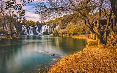 Desktop Wallpapers Bosnia Kravice Landscape Autumn Herzegovina