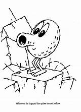 Qbert Coloring Pages Pixels Arcade Template Sketch sketch template