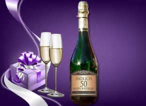 personalisierte hochzeitsgeschenke flaschenetikett zum 50 geburtstag für eine sektflasche