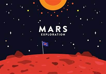 Mars Vector Exploration Clipart Planet Background Space