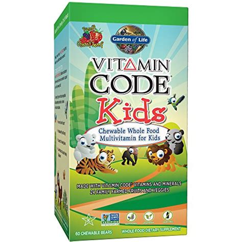 garden of vitamin code for garden of vegetarian multivitamin supplement for