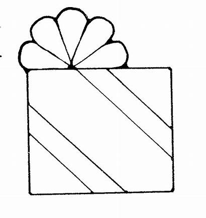 Present Clipart Outline Birthday Clip Gift Presents