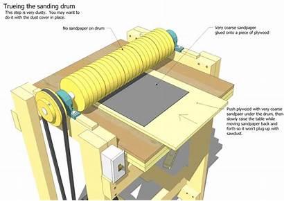 Sander Plans Thickness Woodworking Drum Diy Wood