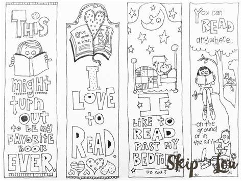 free coloring bookmarks book marcadores de libros libros para colorear y separador de libros