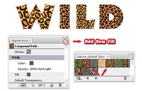 brown zebra print tip create an print text effect with adobe