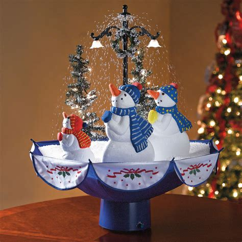 christmas tabletop musical rotating christmas tree decoration tabletop snowing tree the green