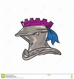 Knight Helmet Drawing Stock Illustration - Image: 80578123
