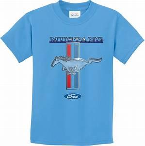 Buy Cool Shirts Kids Ford Mustang T-shirt Stripe Youth Tee   eBay