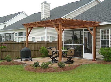 concrete patio with pergola cincinnati outdoor living pergola sted concrete patio