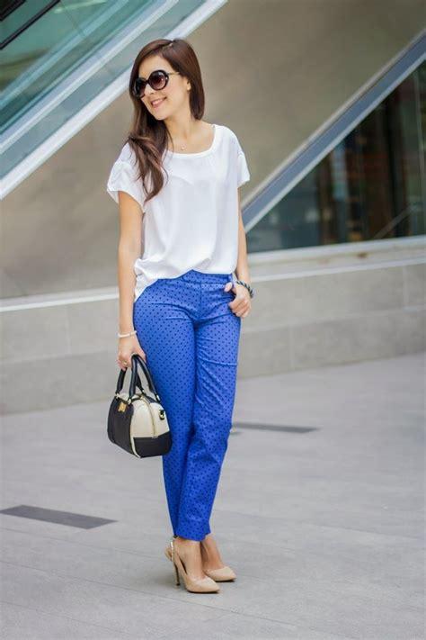 Mu00e1s de 25 ideas increu00edbles sobre Blusa azul rey en Pinterest | Pantalones cortos de vestir ...