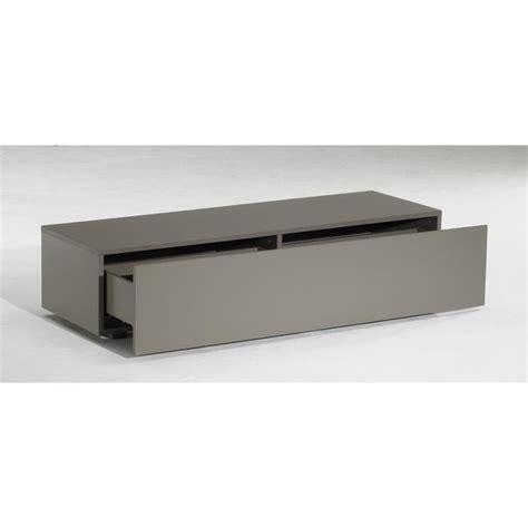 achat meuble cuisine meuble tv bas delta 1 tiroir taupe mat 120cm achat