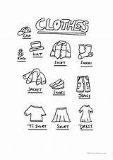Clothes Esl Worksheets English Worksheet Printable Vocabulary Printables Food Flashcards Activities Games Print Screen Beginner Upvote Islcollective sketch template