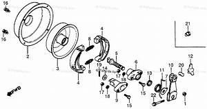 Honda Atv 1979 Oem Parts Diagram For Rear Brake Drum