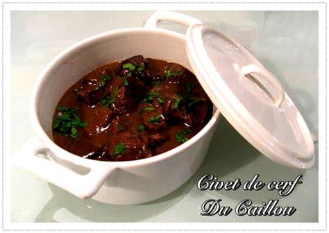 cerf cuisine civet de cerf recettes nc cuisine calédonienne