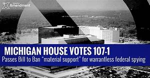 """Michigan House Passes Bill to Ban """"Material Support or ..."""